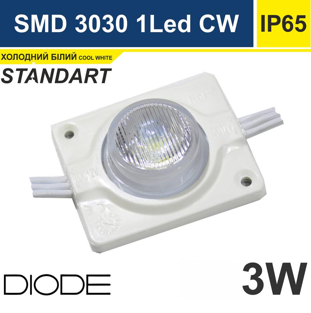 Светодиодный модуль торцевой 3вт